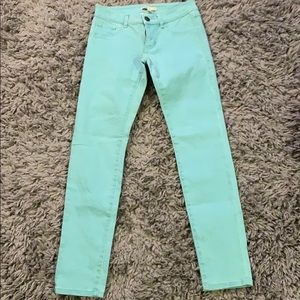 CAbi jeans turquoise size 0